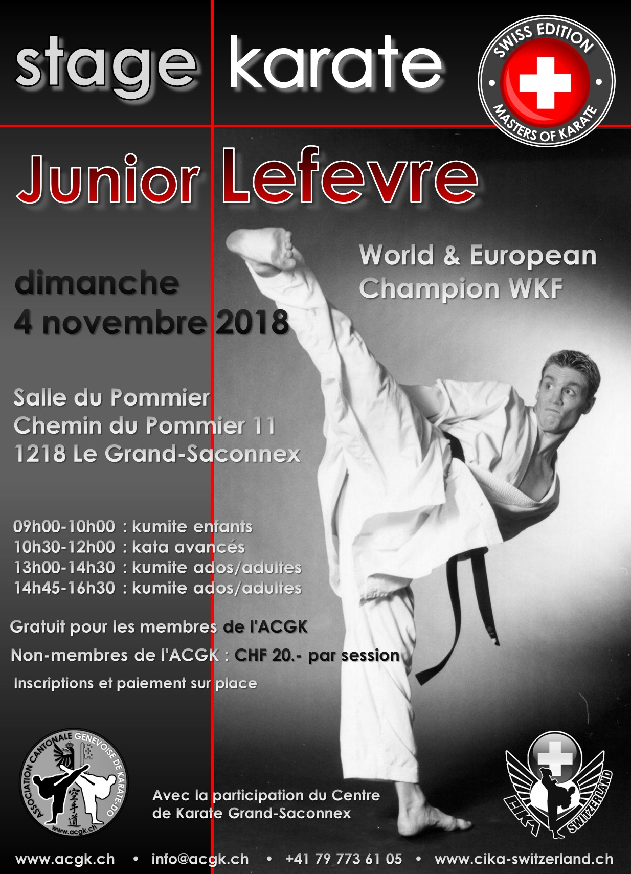 Affiche du stage Junior Lefèvre