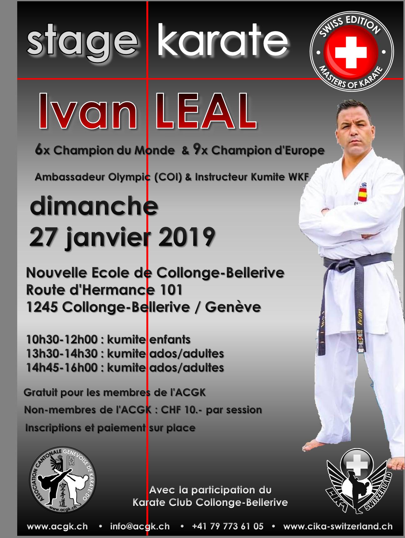 Stage Ivan LEAL – 27 janvier 2019
